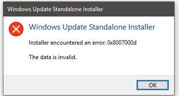How to Fix Error Code 0x8007000d in Windows 10 -